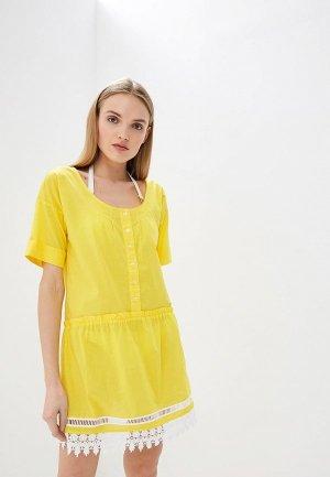 Платье пляжное Liu Jo. Цвет: желтый