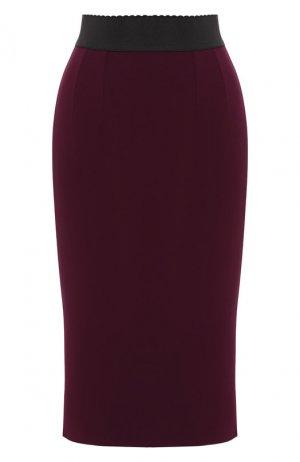 Юбка-миди Dolce & Gabbana. Цвет: фиолетовый