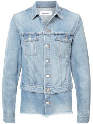 Двухслойная джинсовая куртка Ambush. Цвет: синий