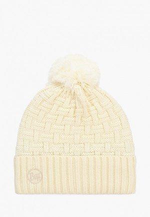 Шапка Buff Knitted&Polar Hat Airon. Цвет: бежевый