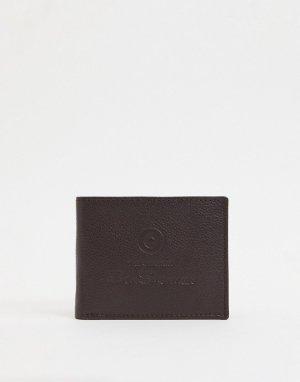 Кожаный бумажник -Коричневый цвет Ben Sherman