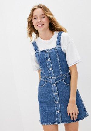 Платье джинсовое Calvin Klein Jeans. Цвет: голубой