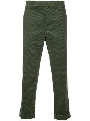 Укороченные вельветовые брюки Haider Ackermann. Цвет: зеленый