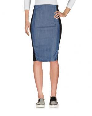 Джинсовая юбка ANNARITA N. Цвет: синий