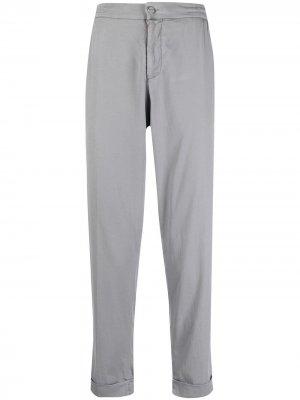 Укороченные брюки чинос Kiton. Цвет: серый