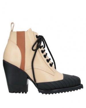 Полусапоги и высокие ботинки CHLOÉ. Цвет: песочный