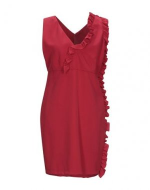 Короткое платье KI6? WHO ARE YOU?. Цвет: красный