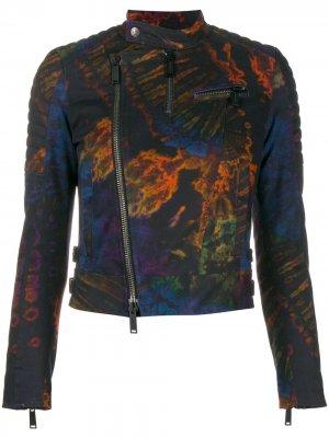 Байкерская куртка с принтом Dsquared2