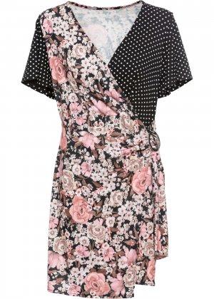 Платье летнее из хлопка bonprix. Цвет: черный