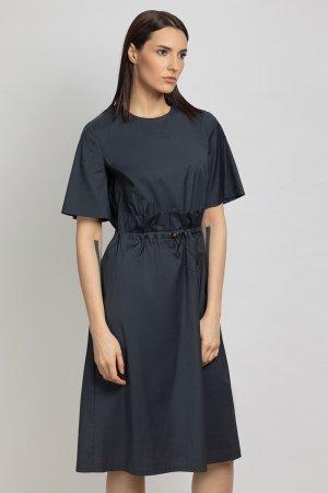 Платье с отлетной деталью юбки VASSA&Co. Цвет: серый