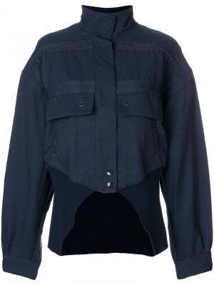 Куртка-бомбер с вырезом Stella McCartney. Цвет: синий