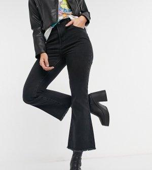 Черные укороченные расклешенные джинсы Inspired 85-Голубой Reclaimed Vintage