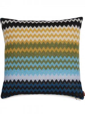 Подушка Humbert с геометричным узором Missoni Home. Цвет: синий