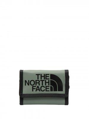 Кошелек с логотипом The North Face. Цвет: зеленый