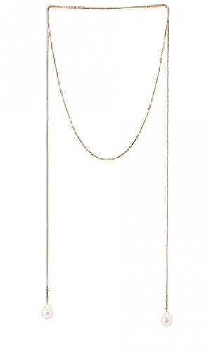 Шнурок для кулона Lili Claspe. Цвет: металлический золотой