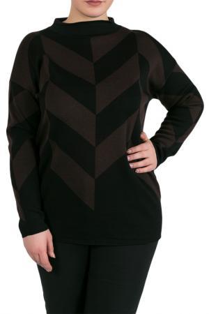 Джемпер Liviana Conti. Цвет: черный, бордовый
