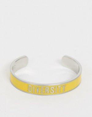 Браслет со словом Diversity collection-Желтый Benetton