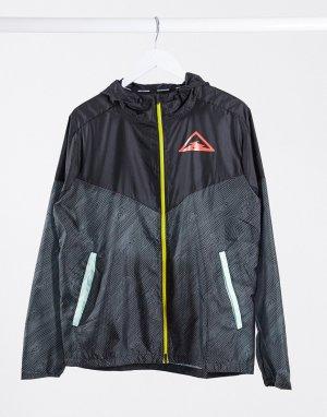 Черная куртка на молнии с логотипом Trail-Черный Nike Running