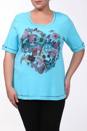 Блуза b2. Цвет: голубой