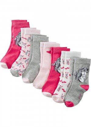 Носки из биохлопка (7 пар) bonprix. Цвет: серый