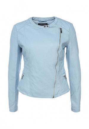 Куртка кожаная Concept Club. Цвет: голубой