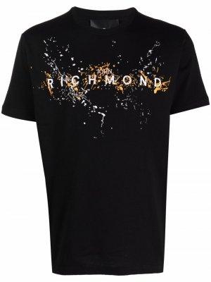 Logo-print short-sleeved T-shirt John Richmond. Цвет: off-белый