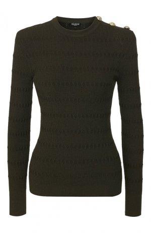 Пуловер Balmain. Цвет: хаки