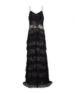 Длинное платье HAUTE HIPPIE. Цвет: черный