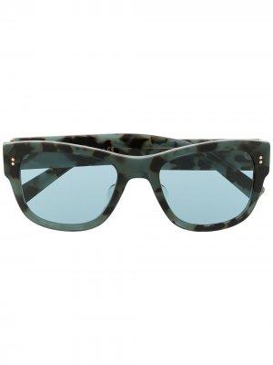 Солнцезащитные очки в прямоугольной оправе Dolce & Gabbana Eyewear. Цвет: синий