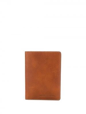 Бумажник с логотипом Brunello Cucinelli. Цвет: коричневый