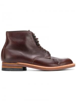 Lace-up ankle boots Alden. Цвет: коричневый