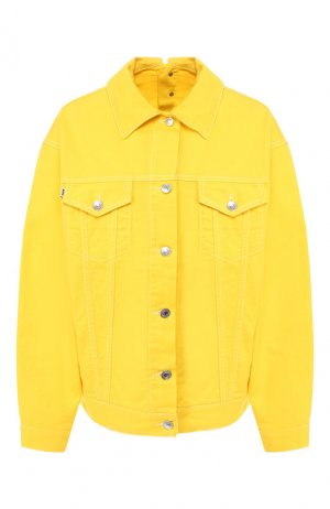 Джинсовая куртка MSGM. Цвет: желтый