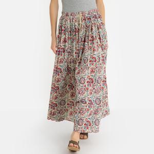 Юбка длинная с цветочным рисунком BETSIE SKIRT ANTIK BATIK. Цвет: наб. рисунок красный