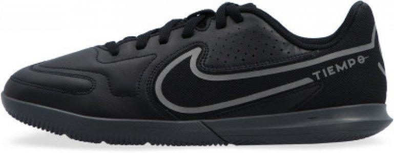 Бутсы для мальчиков Tiempo Legend 9 Club Ic, размер 32.5 Nike. Цвет: черный