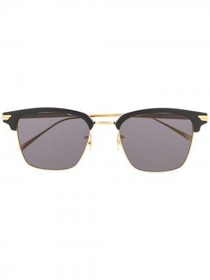 Солнцезащитные очки в квадратной оправе Bottega Veneta Eyewear. Цвет: черный