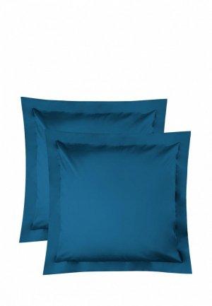 Комплект наволочек Bellehome Стефания Ocean, 70х70. Цвет: синий