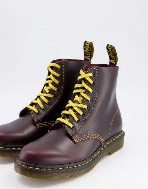Красные ботинки с 8 парами люверсов 1460 pascal-Красный Dr Martens