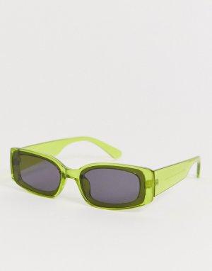 Желтые квадратные солнцезащитные очки -Желтый AJ Morgan