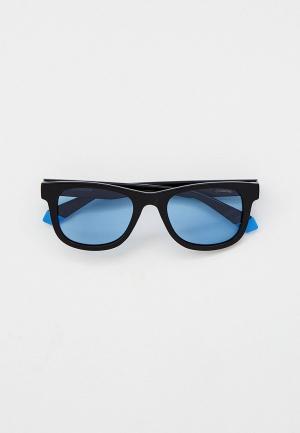 Очки солнцезащитные Polaroid с поляризационными линзами. Цвет: черный