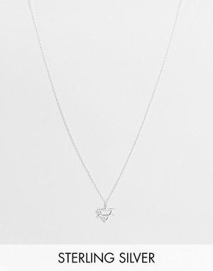 Серебряное ожерелье с подвеской-Серебристый The Status Syndicate