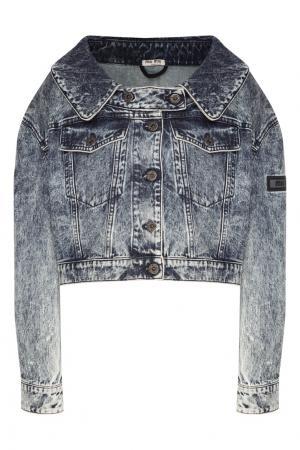 Джинсовая куртка Miu. Цвет: серый