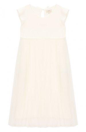 Платье из вискозы Aletta. Цвет: белый
