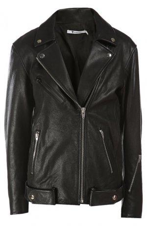 Куртка кожаная T Alexander Wang. Цвет: черный