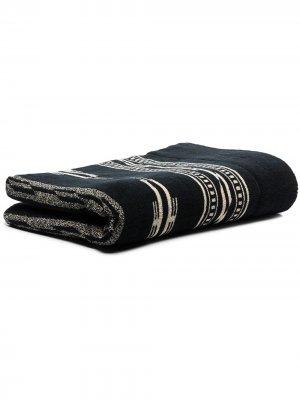 Одеяло с геометричным узором BasShu. Цвет: черный