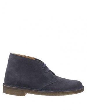 Полусапоги и высокие ботинки CLARKS ORIGINALS. Цвет: грифельно-синий