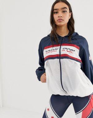 Темно-синяя ветровка с логотипом -Темно-синий Tommy Hilfiger Sport
