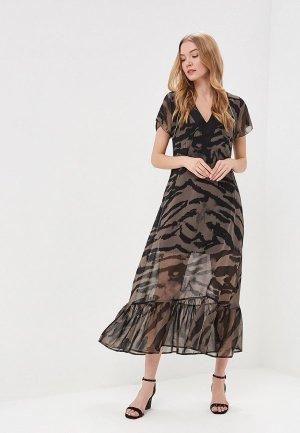 Платье Religion. Цвет: коричневый