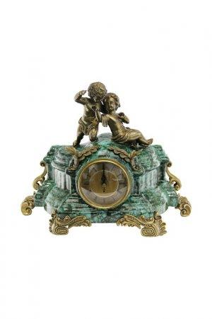 Часы Два ангела 41x18x31 см ГЛАСАР. Цвет: голубой, золотой