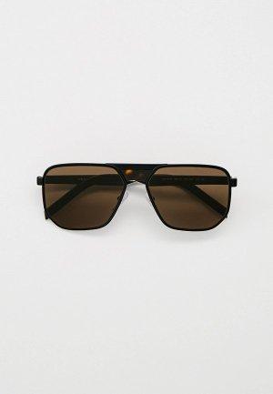 Очки солнцезащитные Prada PR 60WS 1BO5G1. Цвет: черный