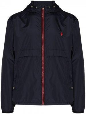 Куртка на молнии с вышитым логотипом Polo Ralph Lauren. Цвет: 2wqu collection navy